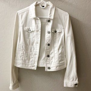 American Eagle white denim jacket